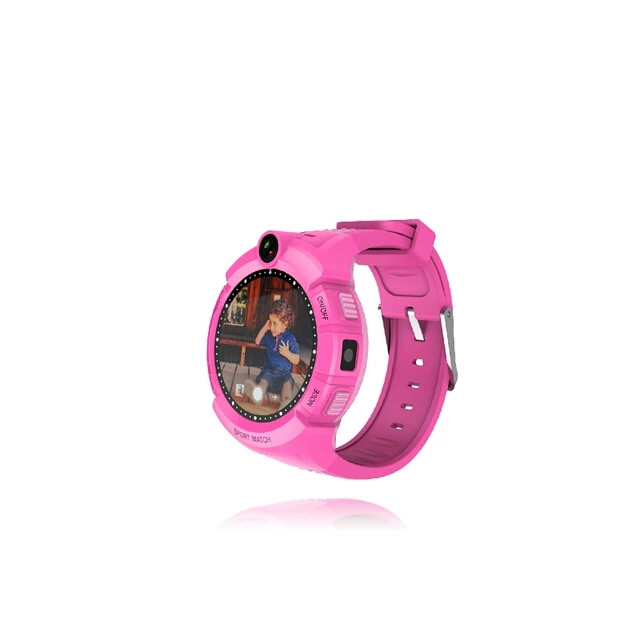 Детские часы Gps S02 Smart baby watch с встроеной камерой и фонариком Розовый