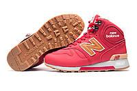 Зимние кроссовки высокие New Balance 1300, на меху, унисекс, красные, р. 40