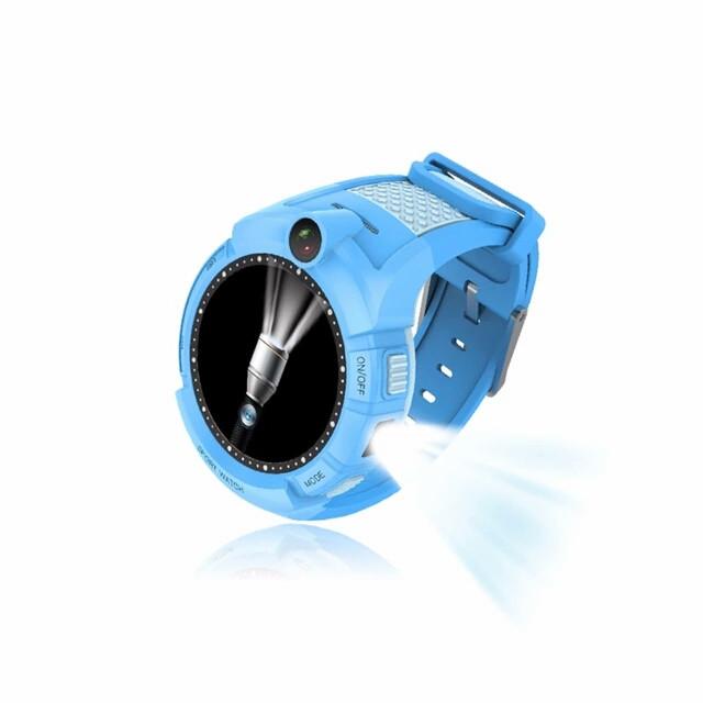 Детские часы Gps S02 Smart baby watch с встроеной камерой и фонариком Голубой