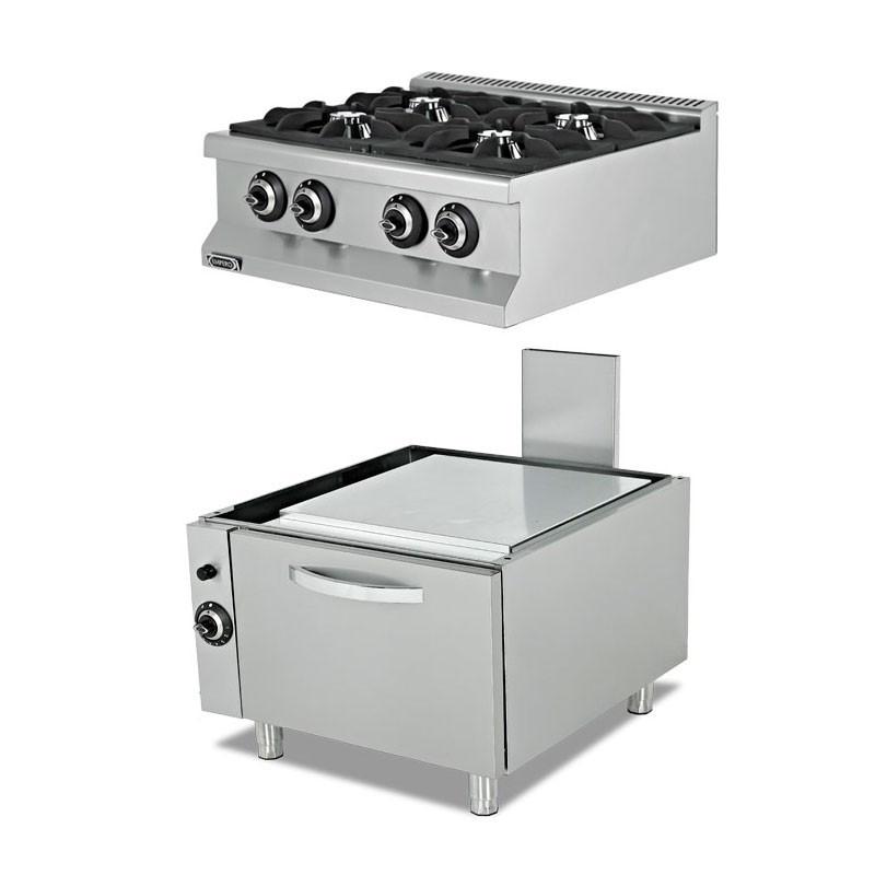 Плита газовая c духовкой EMP.7KG020+EMP.7FRG001 Empero