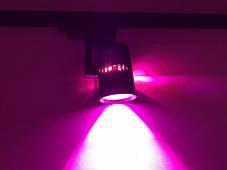 Трековий світлодіодний фітосвітильник SL-4003F 20W (full spectrum led) чорний Код.59089, фото 3