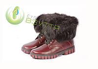 Зимние кожаные ботинки (рр 31-36), фото 1