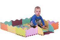 """Детский коврик-пазл Baby Great """"Быстрый транспорт"""" с бортиком 122x122 см"""