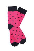 """Детские махровые носочки малинового цвета с сердечками ТМ """"Дюна"""". Размеры: 16-18, 18-20, 20-22"""