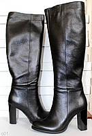 Женские сапоги кожаные высокие