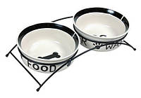 "Trixiе (Трикси) ""Eat on Feet"" Стояк с двумя керамическими мисками для собак, 2,6л/ø25см"