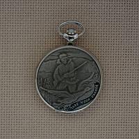Молния Охота карманные механические часы 1994 г