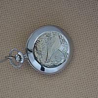 Молния Глухарь новые карманные мех. часы 1994 год