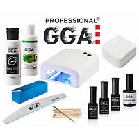Стартовый набор гель лаков GGA Professional с УФ лампой