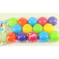 Шарики для сухого бассейна 60 мм мягкие 14 шт. в пакете   M- toys