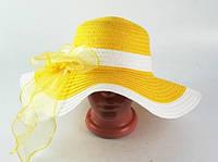 Соломенная шляпа Легже 40 см желтая