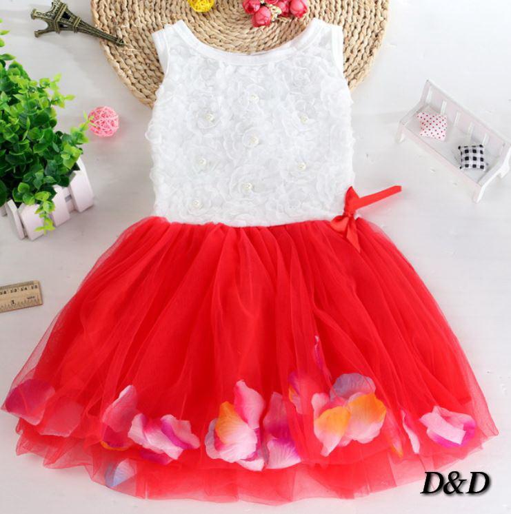 Платье детское красное