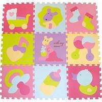 "Детский коврик-пазл Baby Great ""Маленький кенгуренок"" 92х92 см"