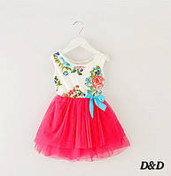 Платье детское малиновое
