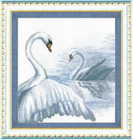 Чарівна мить Лебеди Набор для вышивки крестом  294