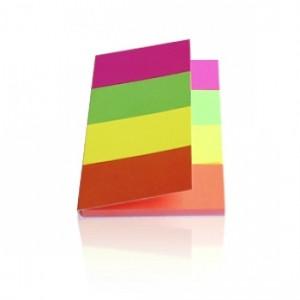 Закладки с клейким слоем KORES НЕОНОВЫЕ бумажные 20*50 мм, 4 цв*50 шт. 45104
