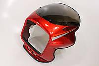 Пластик - обтекатель фары квадратной + ветровик, КРАСНЫЙ на мотоцикл VIPER -125-J
