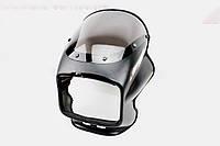 Пластик - обтекатель фары квадратной + ветровик, ЧЕРНЫЙ на мотоцикл VIPER -125-J