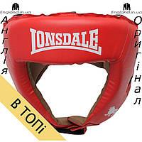 Боксерский шлем Lonsdale красный | Боксерський шолом Lonsdale червоний