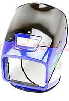 Пластик - обтічник фари квадратної + ветровики + габарит, СИНІЙ на мотоцикл VIPER -125-J, фото 1