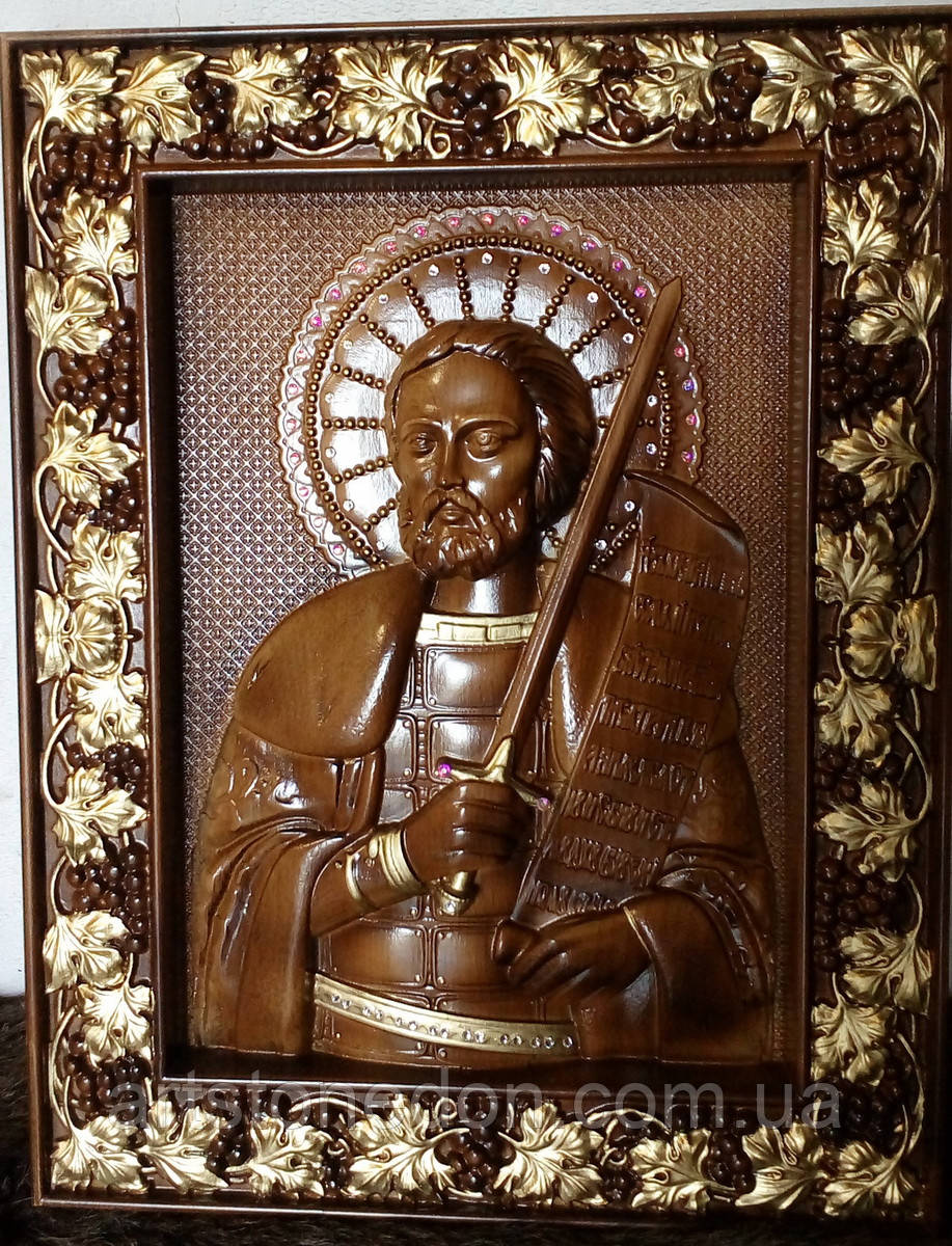 Икона деревянная Святой Аексадр Невский