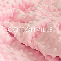 ✁ Отрез плюша Minky светло-розовый 100х80 см, фото 1