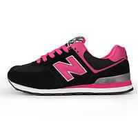 Кроссовки New Balance 574 Black Pink (Черные)