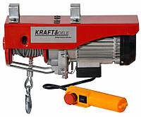 Электрический тельфер,кран балка  800 кг KRAFT & DELE