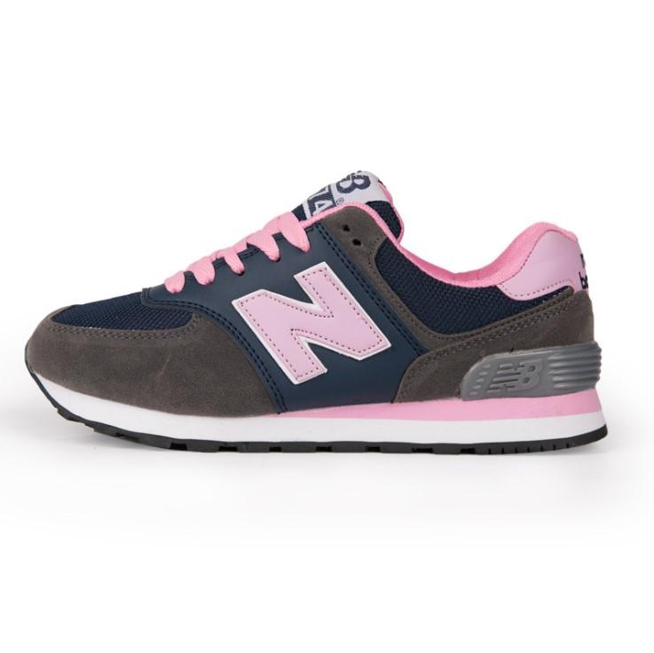 Кроссовки New Balance 574 Blue Pink Синие женские реплика