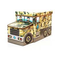 Пуф-ящик для игрушек Военная машина