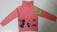 Свитер ярко-розового цвета для девочки на возраст 2-6 лет