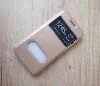 Чехол-книжка Nilkin для телефона Samsung Galaxy J1 (золотой)