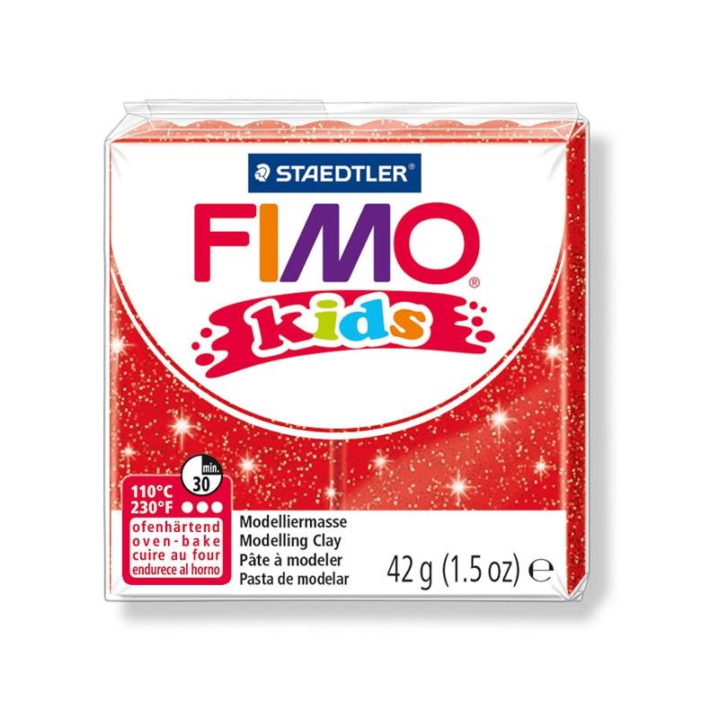 Фимо Кидс полимерная глина Fimo Kids №212 блестящий красный, Германия.