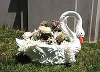 Цветник Лебедь. Клумба. Вазон из бетона, фото 1