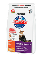 Hills Science Plan Feline Adult Sensitive Stomach Chicken Сухой корм для кошек с курицей