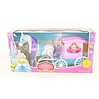 Карета с лошадкой и куклой в коробке