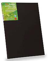 Холст на подрамнике, 40х40 см, м.з., хл, цветной грунт, акриловый грунт, черный, черный грунт, Этюд