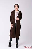 Женское вязаное пальто - кардиган