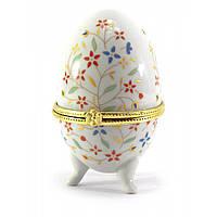 """Шкатулка яйцо """"Полевые цветы""""(10х6х6 см)"""