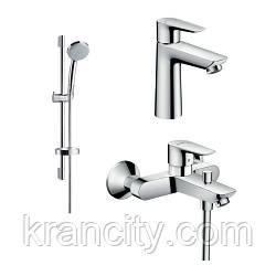 Набор смесителей для ванны с душевым гарнитуром HANSGROHE TALIS E  (71710000+71740000+27772000)