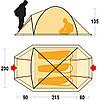 Палатка Ferrino Aral 3 (4000) Red/Gray, фото 3