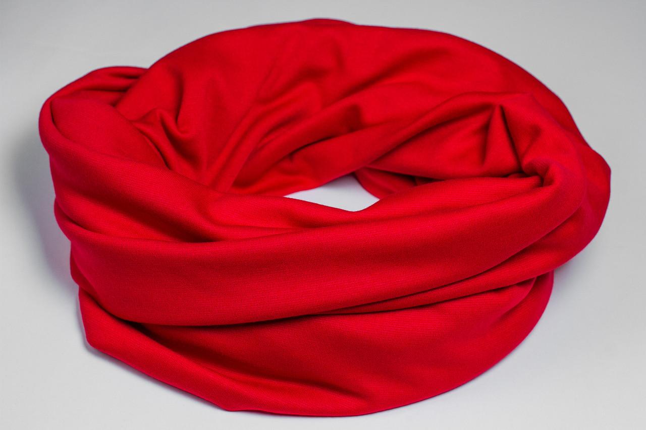 Шарф-снуд «Красный цвет»