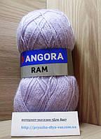 Мохеровая пряжа (100г/500м, 40%-мохер, 60%-акрил) Angora Ram 554(св.сиреневый)
