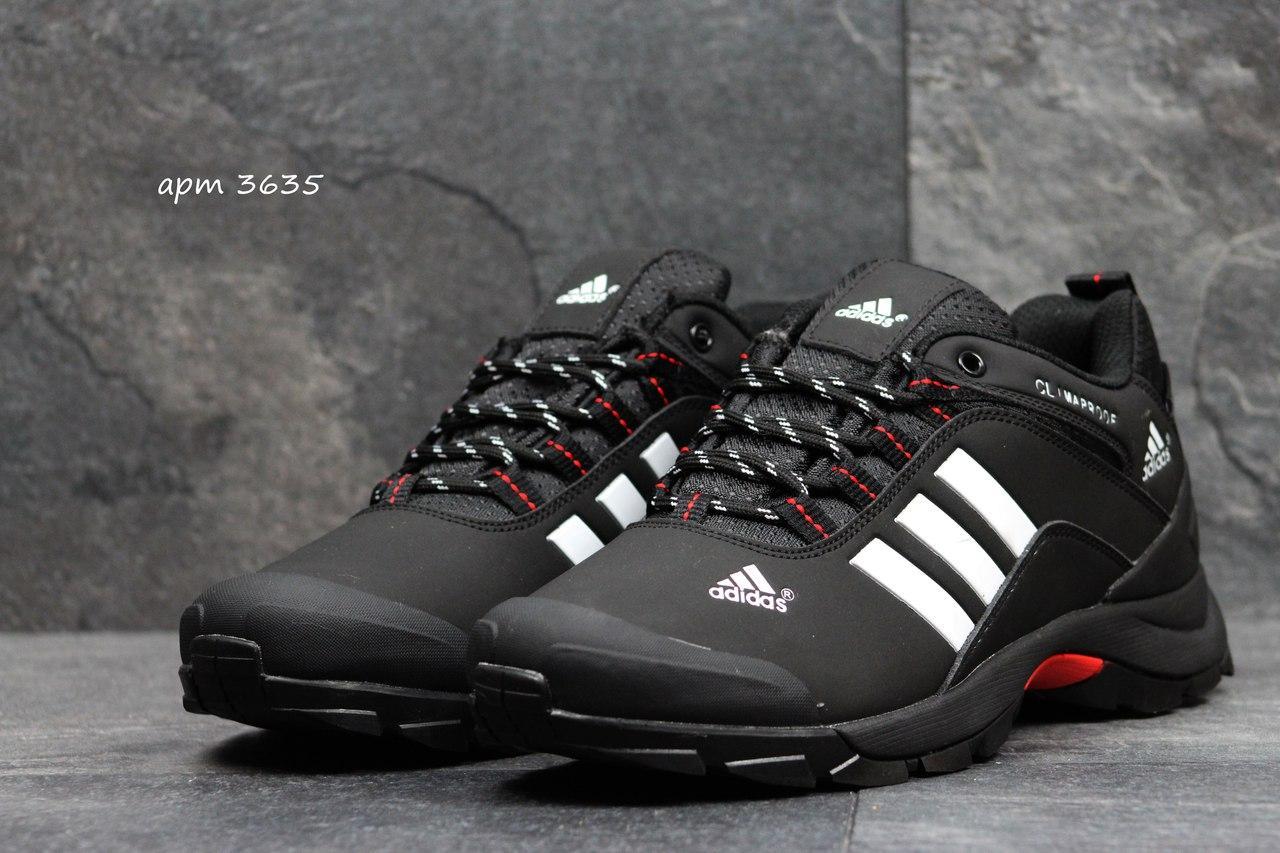 1299531657ce ... Мужские зимние кроссовки Adidas Climaproof черные с белым 3635, ...