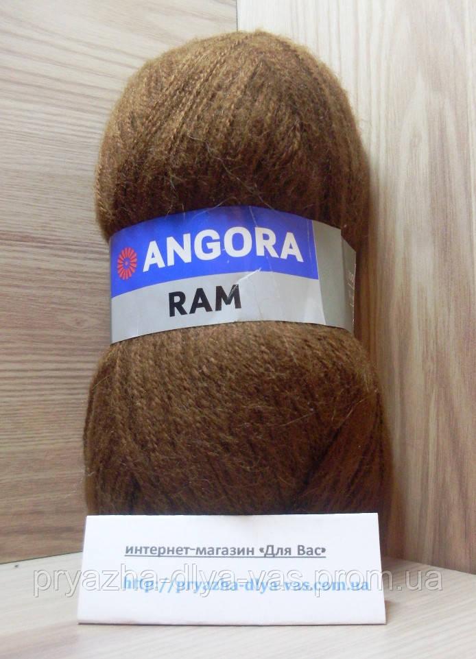 Мохеровая пряжа (100г/500м, 40%-мохер, 60%-акрил) Angora Ram 3067(коричневый)
