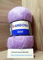 Мохеровая пряжа (100г/500м, 40%-мохер, 60%-акрил) Angora Ram 9560(сиреневый)
