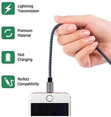 Набор кабелей (шнуров) для айфон айпад айпод Cablex (3FT 6FT 10FT) 2 шт, фото 3