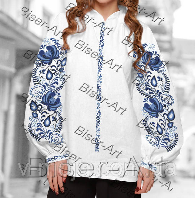 Заготовка для вишивки жіночої сорочки бохо В- 28 на льоні -  Гуртово-роздрібний інтернет eec9f1d197c81