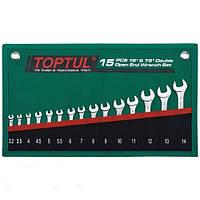 Набор рожковых ключей 15 шт 15ед. 3,2-14мм (15° GRAJ1501 STANDART