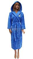Халат махровый женский с капюшоном New Color (Birlik) № 997
